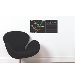 WALL DECALS - Black board Métro map