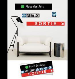 ADHÉSIF SIGNALÉTIQUE - Place-des-Arts
