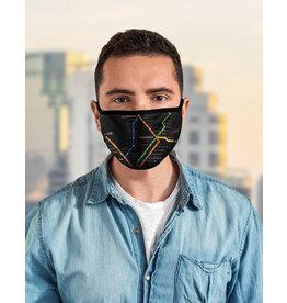 Masque réutilisable - Carte du métro - Noir