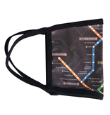 Reusable face mask - Metro map - Black