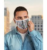 Masque réutilisable - Carte du métro - Blanc