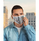 Reusable face mask - Metro map - White