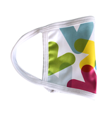 Masque réutilisable - Chevrons couleurs