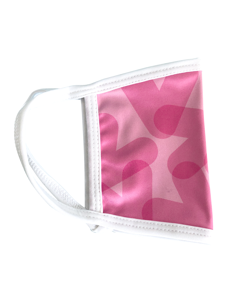 Reusable face mask - Pink chevron