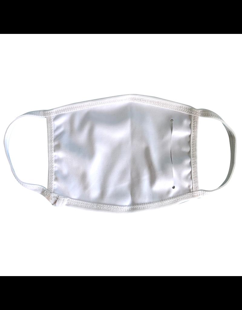 Masque réutilisable - Masque bleu pâle avec chevron jaune