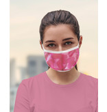 Masque réutilisable - Chevron rose