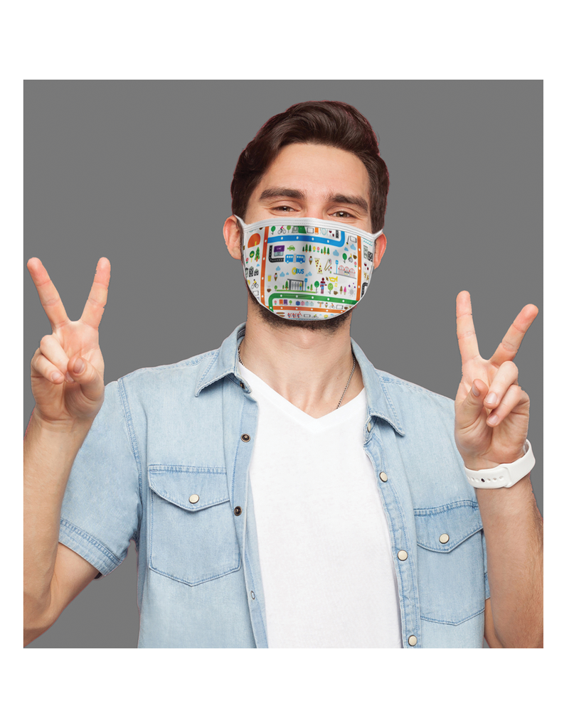 Masque réutilisable - Imagerie - Ville
