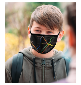Reusable face mask - Metro map - Black - Kids