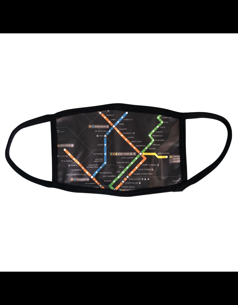 Masque réutilisable - Carte du métro - Noir - Enfant