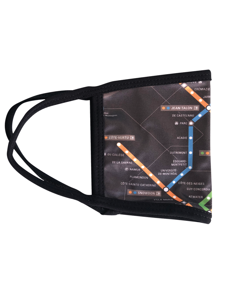 Reusable face mask - Metro map - Black - Kids