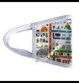 Masque réutilisable - Carte du métro - Blanc - Enfant