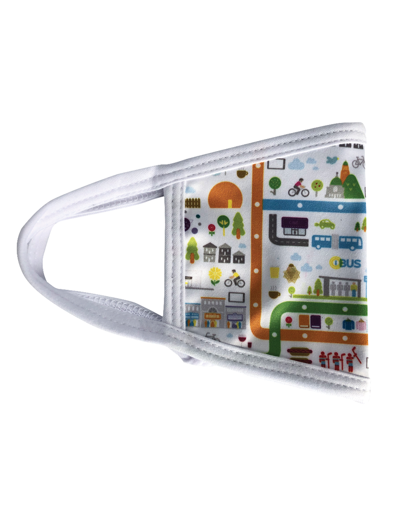 Reusable face mask - Metro map - White - Kids