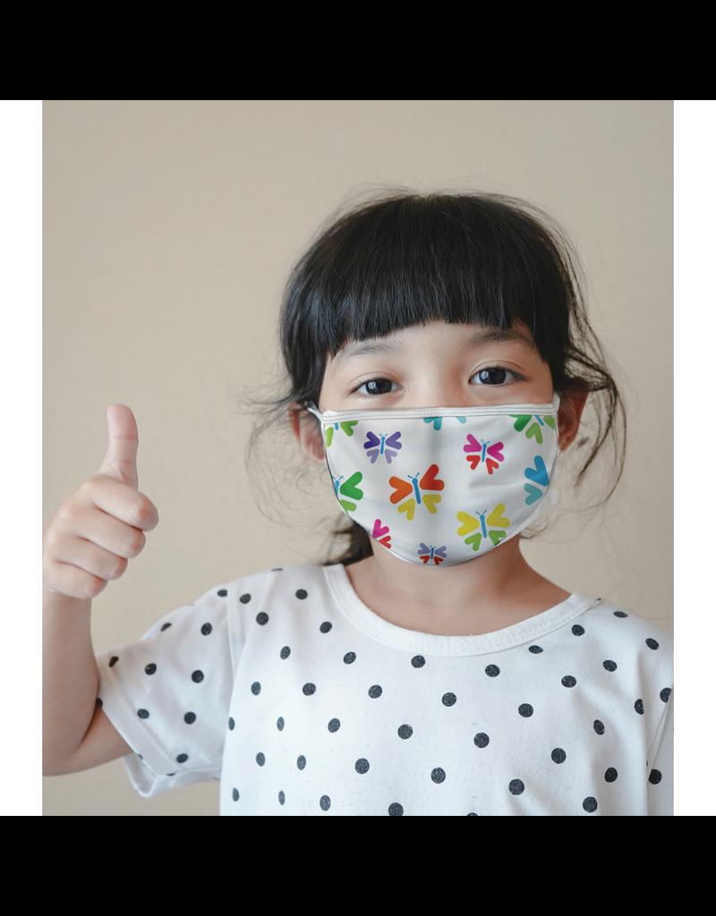 Masque réutilisable - Papillons - Enfant