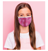 Masque réutilisable - Chevron rose - Enfant
