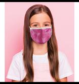 Reusable face mask - Pink chevron - Kids