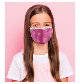 Reusable face mask - Pink chevron - Kids