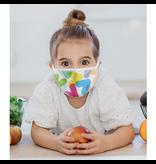 Masque réutilisable - Chevrons couleurs - Enfant