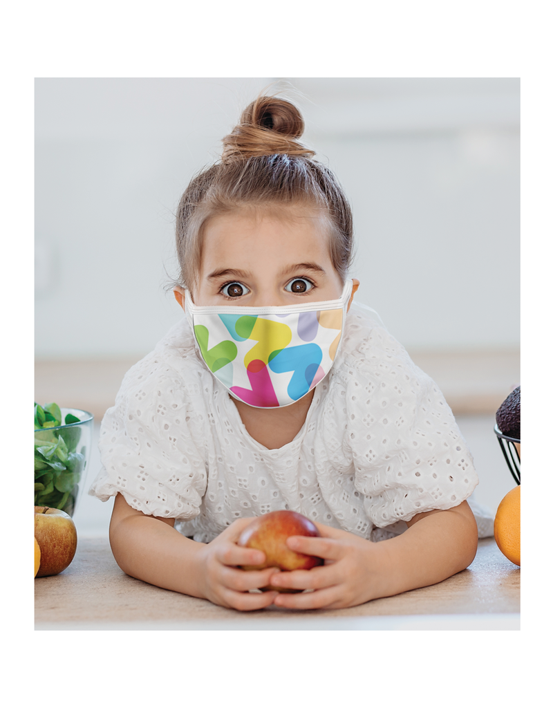 Reusable face mask - Colored chevrons - Kids
