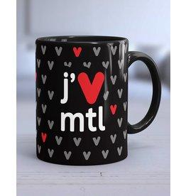 TASSE 11oz - j'V mtl noir