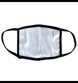 Reusable mask - Black mask, black trim with blue chevron