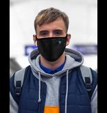 Masque réutilisable - Masque noir, contour noir avec chevron bleu