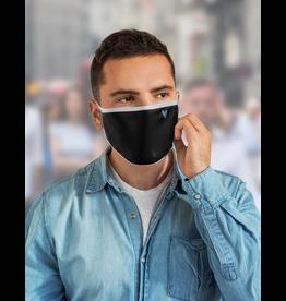 Masque réutilisable - Masque noir avec chevron bleu
