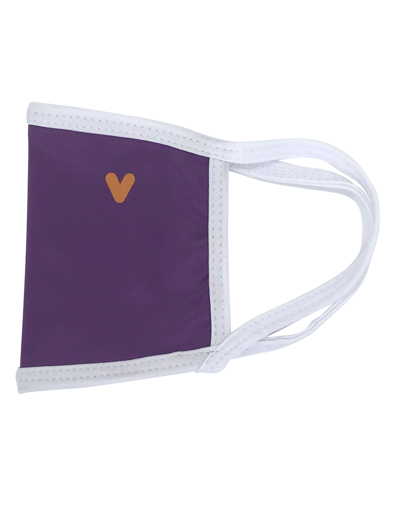Reusable mask - Purple mask with orange chevron