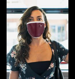 Masque réutilisable - Masque bourgogne avec chevron rose
