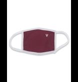 Reusable mask - Burgundy mask with pink chevron