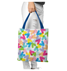 Canvas Bag - CHEVRONS COLOURS