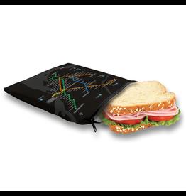 Sandwich bag - Metro black plan