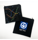 Sandwich bag - Metro black plan