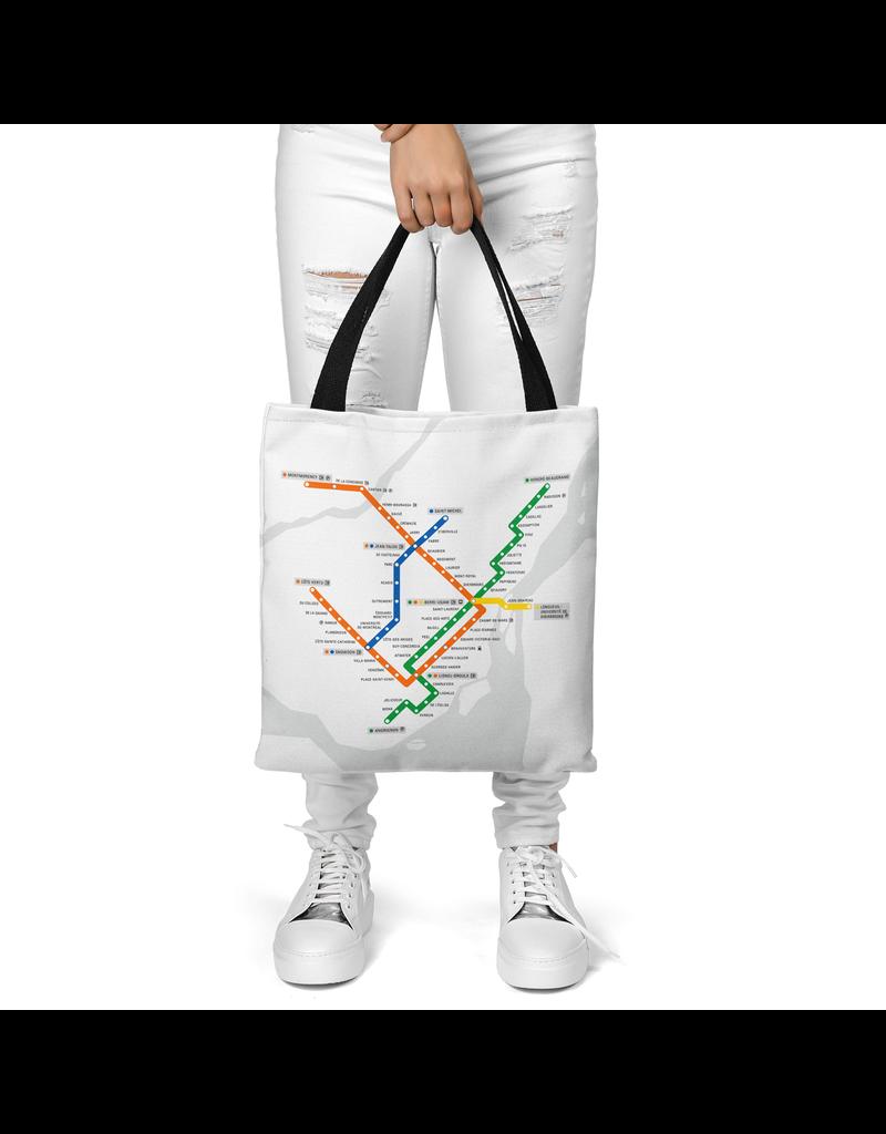 Canvas bag - White metro map / Metro logo
