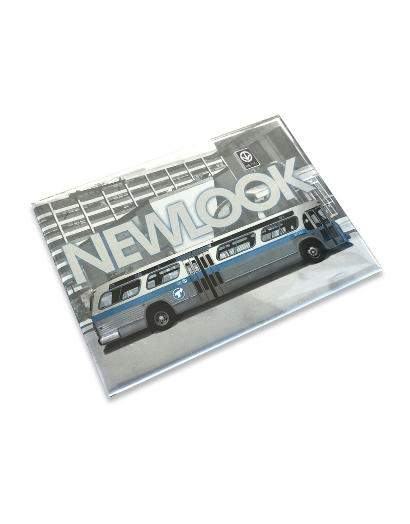 Magnet NewLook Bus blue profile