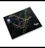 Aimant Plan du métro noir