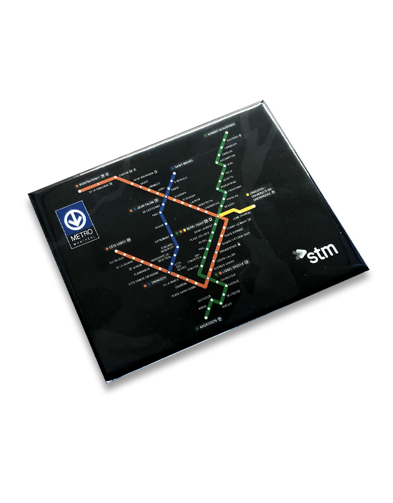 Magnet Plan du métro noir