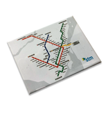 Magnet Plan du métro blanc