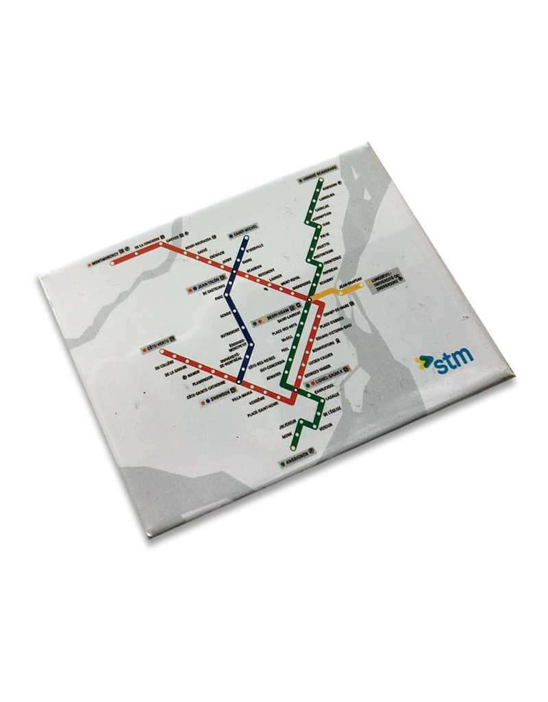 Aimant Plan du métro blanc