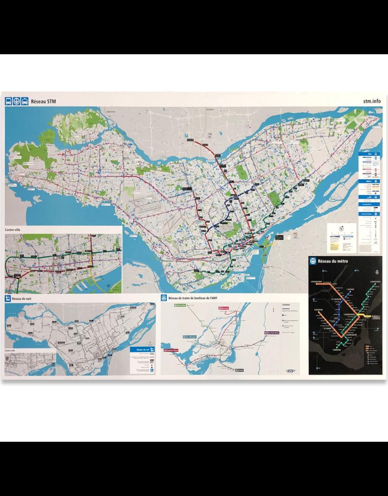 STM MAP AFFICHE VINTAGE