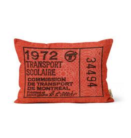"PILLOW - Transport scolaire 1972    12"" x 18"""