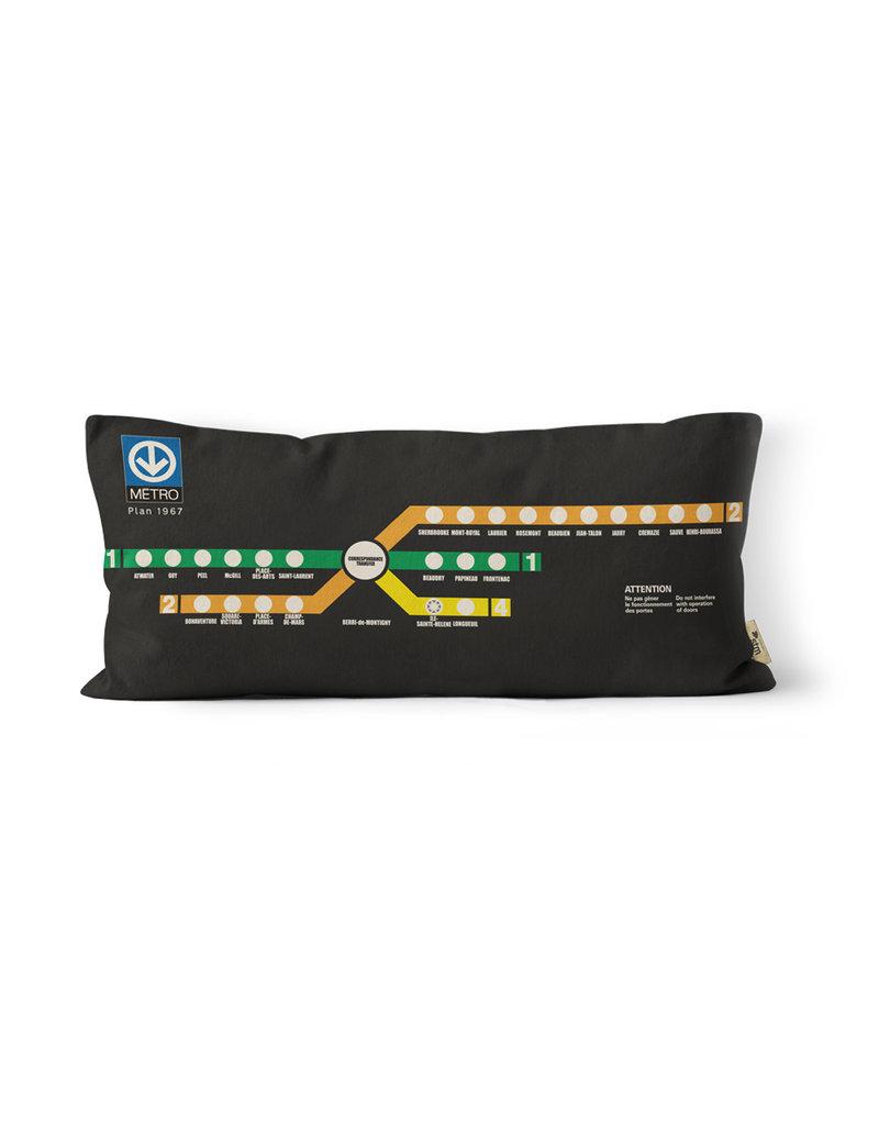 Pillow BERRI-de MONTIGNY - 1967 Metro map