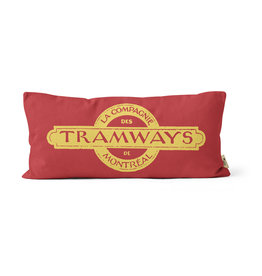 "PILLOW - Montreal Tramways Co 10"" x 20"""