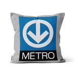 "COUSSIN - Métro Azur / Logo du Métro  14"" x 14"""