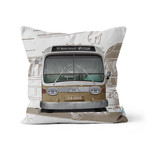 PILLOW -  New Look Brown Bus 14x14 - # 97 Mont-Royal