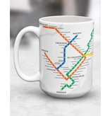 CUP - White Montreal Metro map