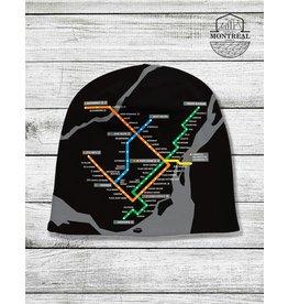 Winter beanie - Montreal Metro map