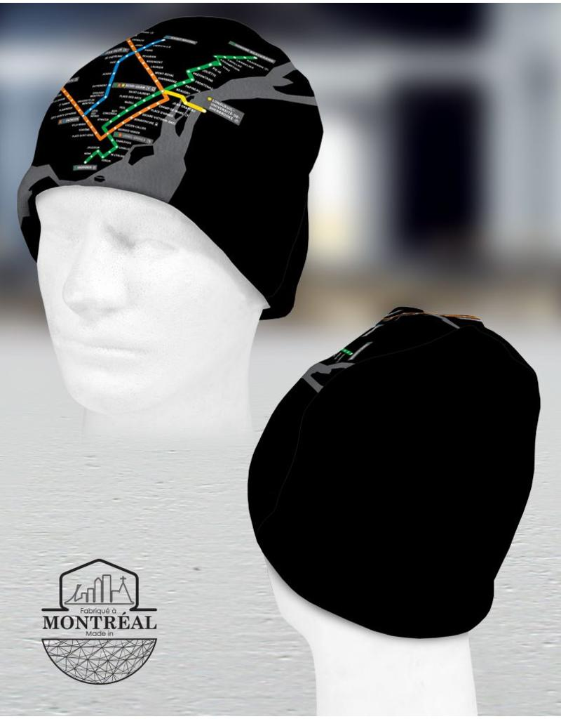 Winter beanie - Montreal Metro map