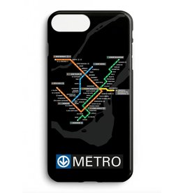 Custom phone case - Black Metro map