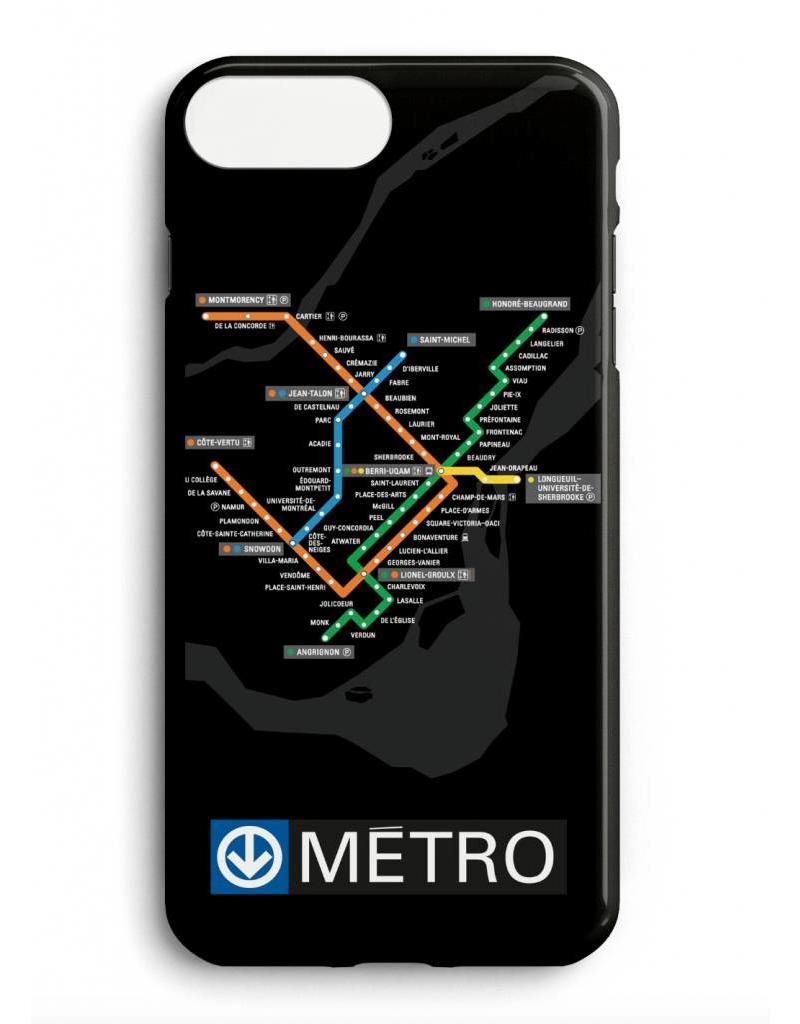 Étui de téléphone - Plan du métro noir