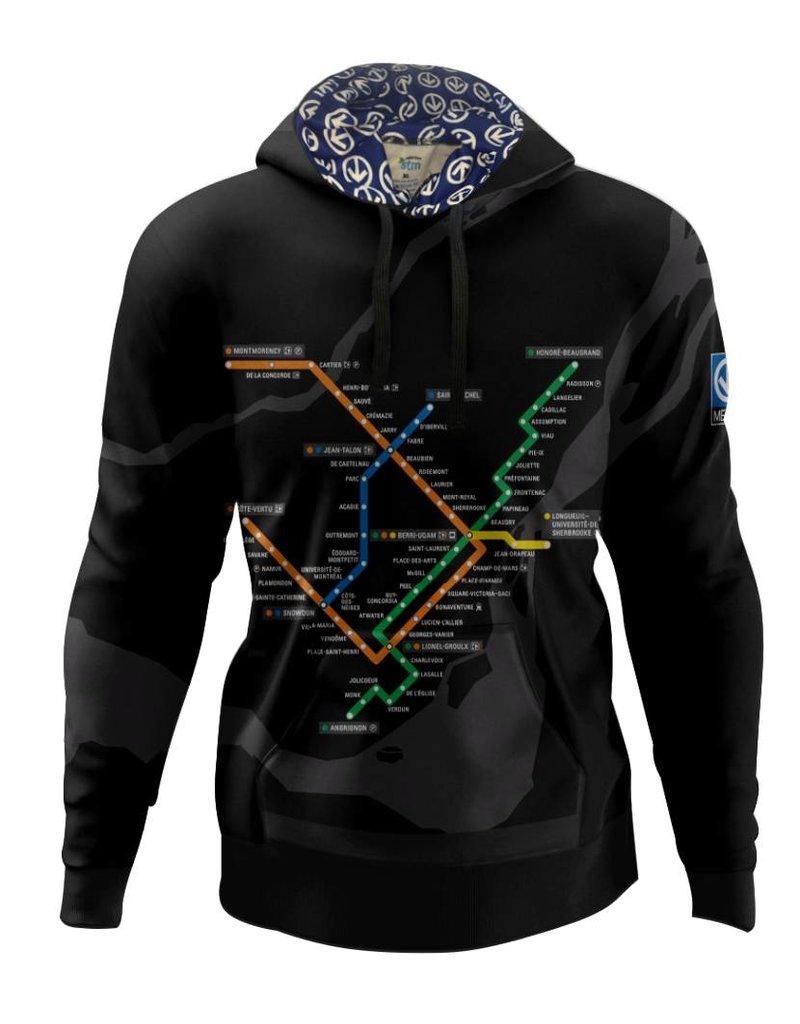 Hoodie - Metro map